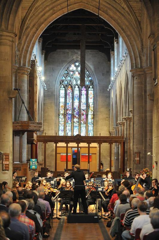 Camerata performing to a full house at St John's Kirk, Perth September 2013
