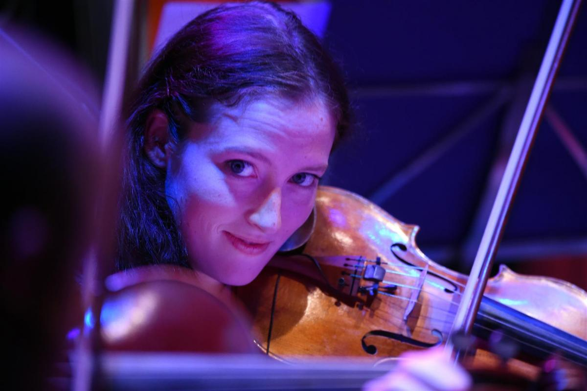 Elanor Gunn on violin for 'Same River Twice' at The Tollbooth 2014