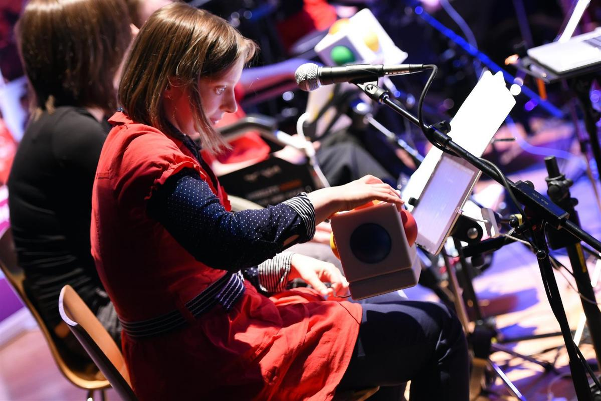 Emma Clarke on iPad and Skoog for 'Same River Twice' at The Tollbooth 2014