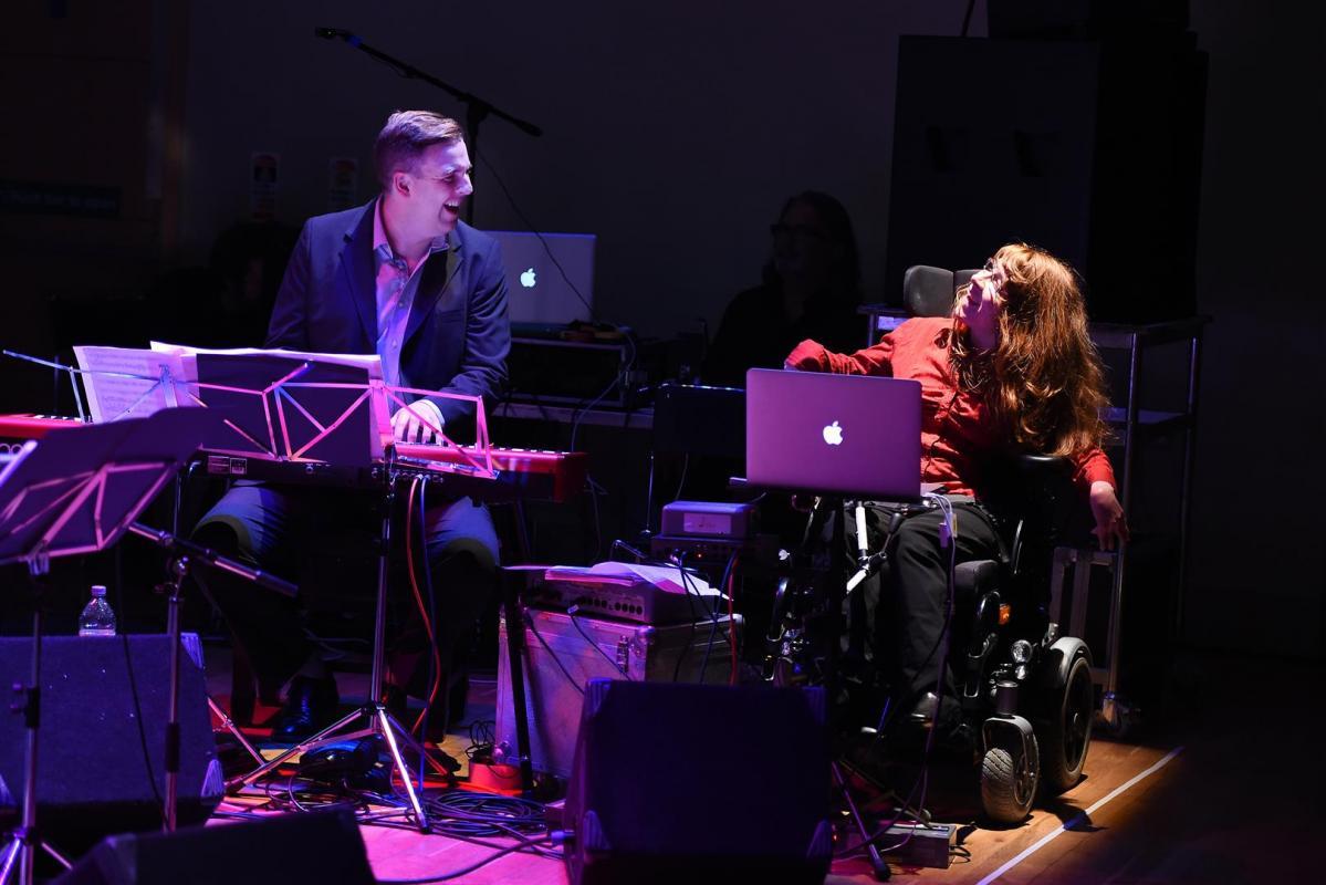 Malcolm Edmonstone on Piano and Rhona Smith on Notion Soundbeam