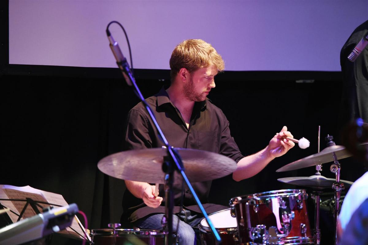 Jonathon Silk on drums