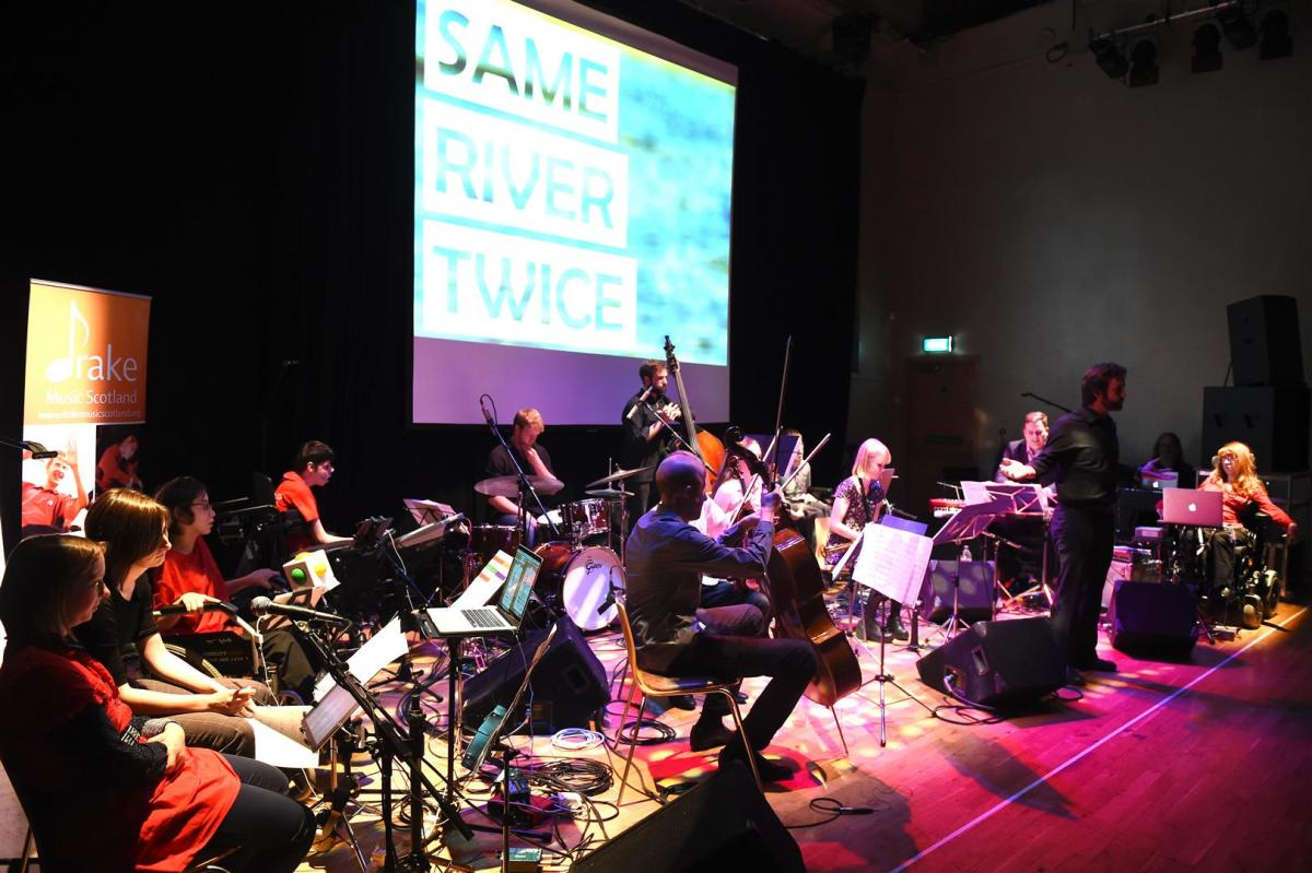 Same River Twice was the musical product of a wonderful collaboration between NYOS Jazz Collective and Drake Music Scotland's Digital Ensemble