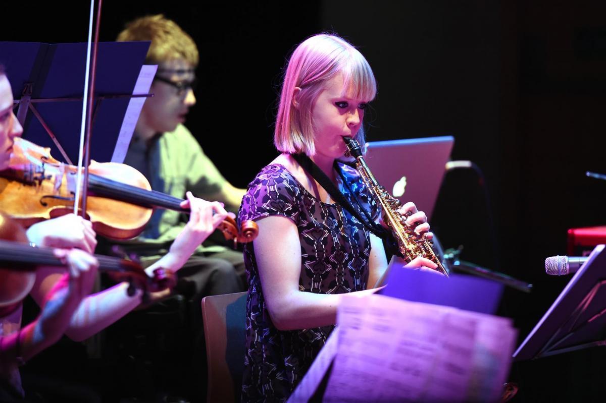 Helena Kay on saxophone