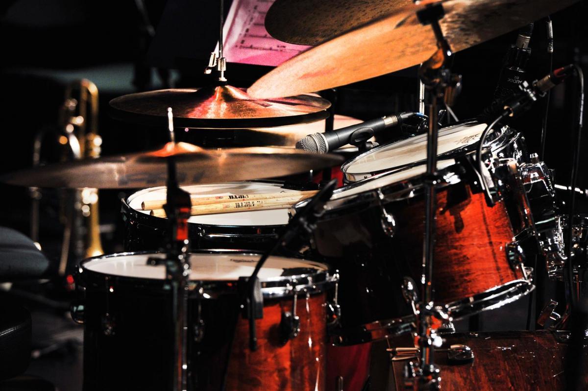 The drums idle at Birnam Arts Centre, Dunkeld