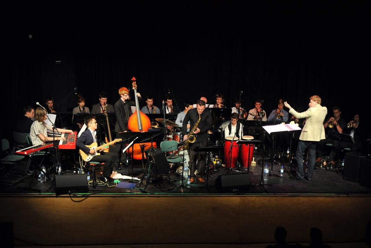 NYOS Jazz Orchestra at Birnam Arts Centre in Dunkeld, July 2014