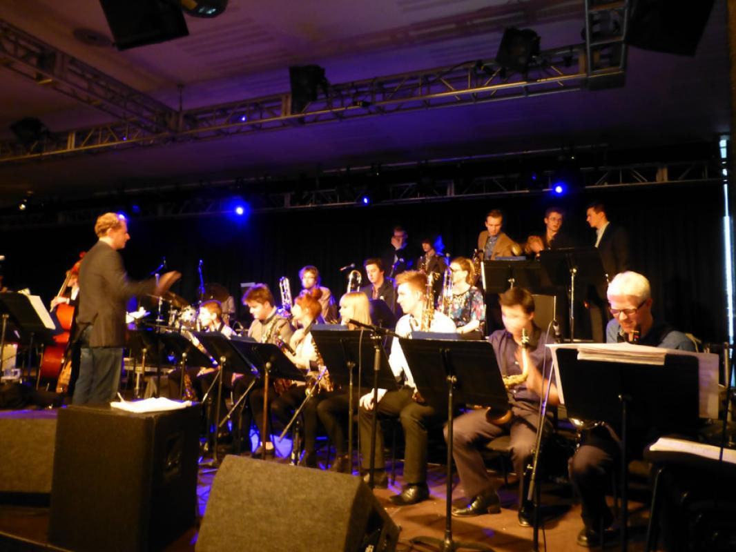 Artistic Director Andrew Bain leading the orchestra at London Jazz Festival, November 2014