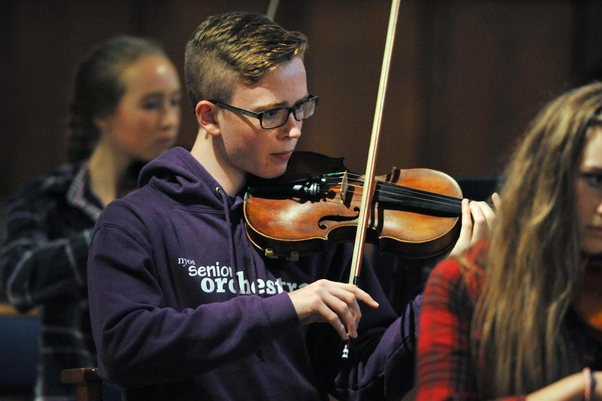 Final rehearsal before the summer concert at Greyfriars Kirk, Edinburgh 2014