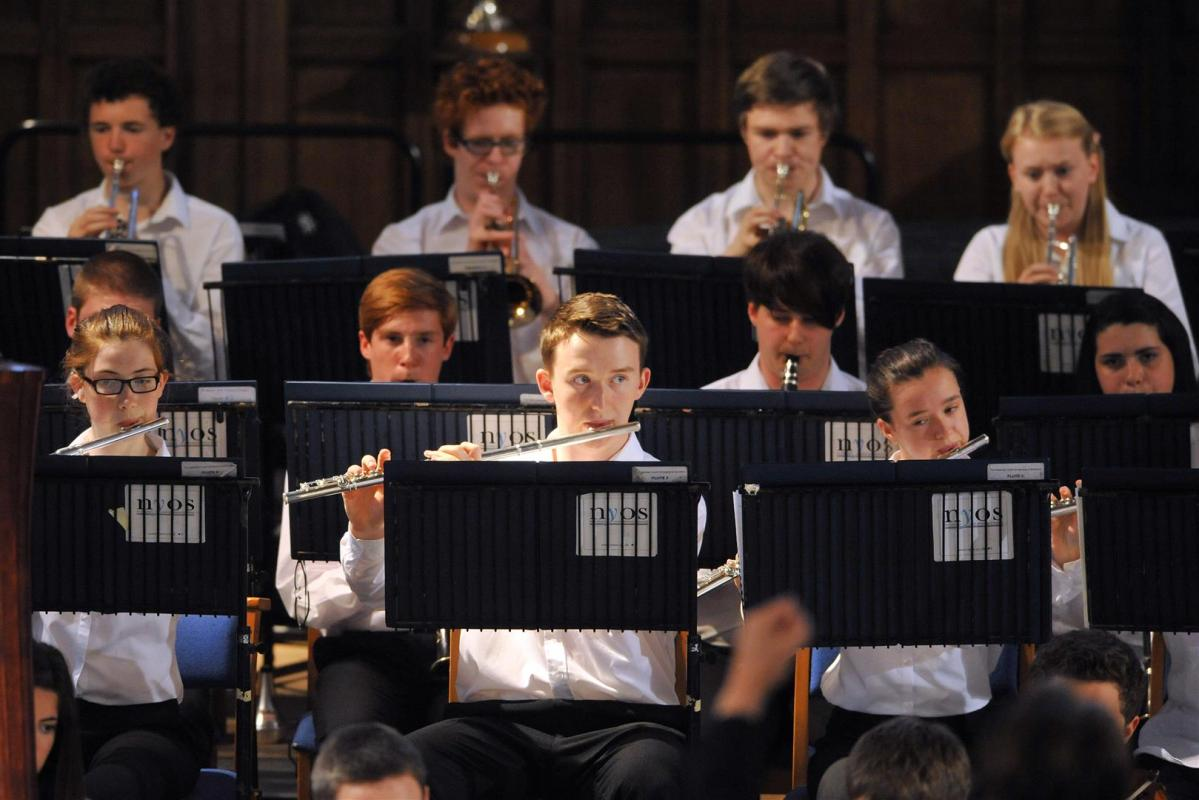 Wind and brass section during the summer concert at Greyfriars Kirk 2014
