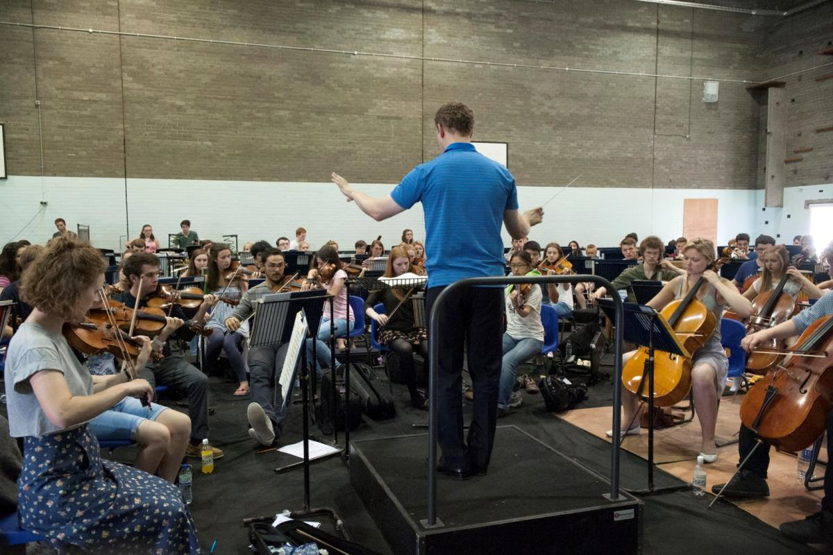 Conductor Michael Francis at summer rehearsals 2014