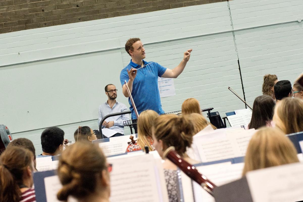 Conductor Michael Francis at summer rehearsals 2014