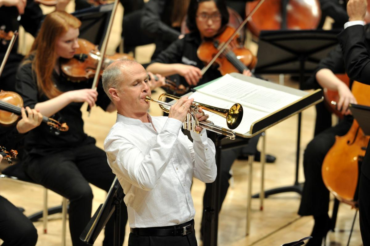 Mark O'Keeffe performing as soloist at the spring concert, Glasgow Royal Concert Hall 2014