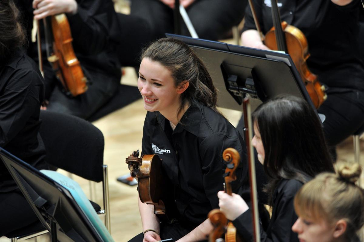 Some brief respite during the spring concert at Glasgow Royal Concert Hall 2014