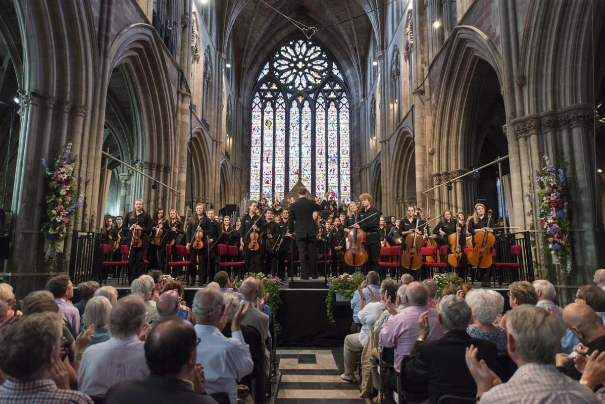 Worcester Cathedral performance during the 3 Choirs Festival 2014