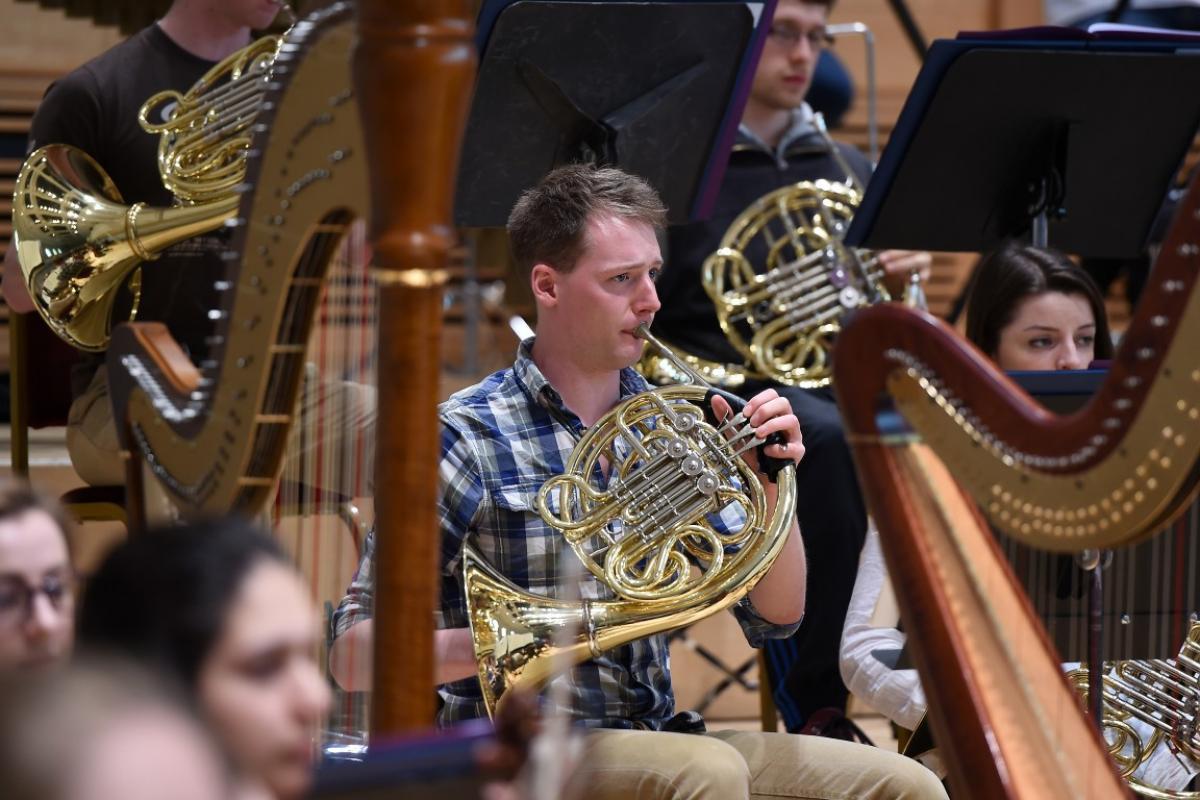 Rehearsals at Glasgow City Halls, April 2015