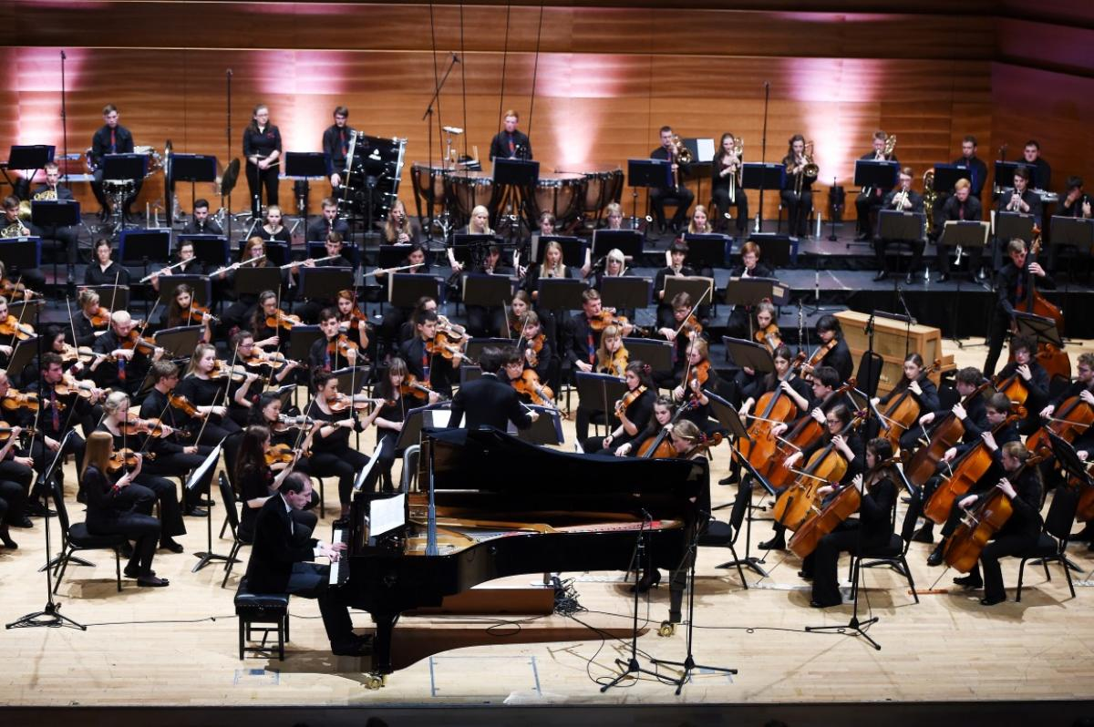 NYOS Symphony Orchestra with soloist Danny Driver at Perth Concert Hall, July 2015