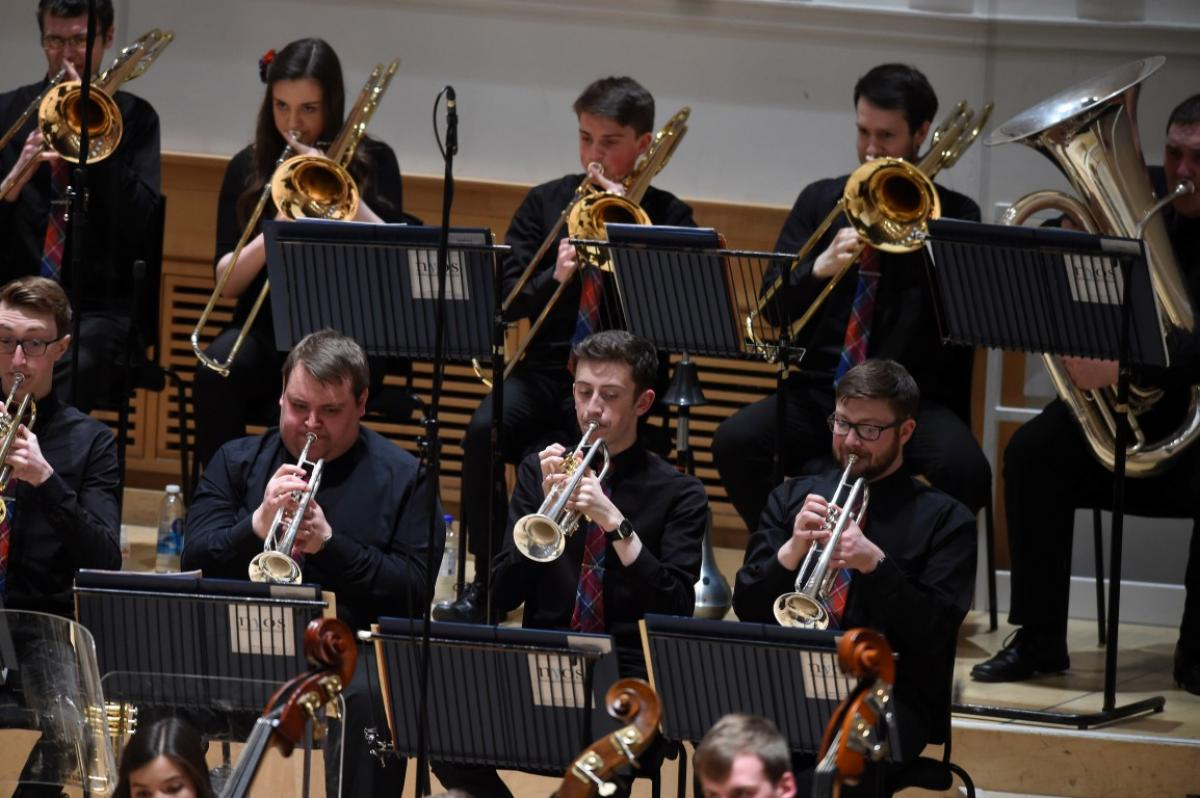 NYOS Symphony Orchestra, brass section at City Halls, Glasgow 9/4/16