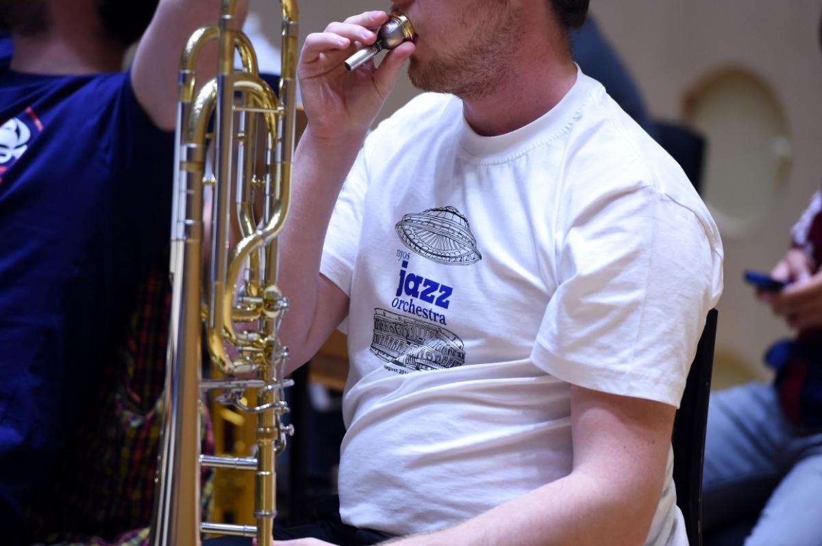 NYOS Jazz Orchestra rehearsing at The RSNO Auditorium GRCH