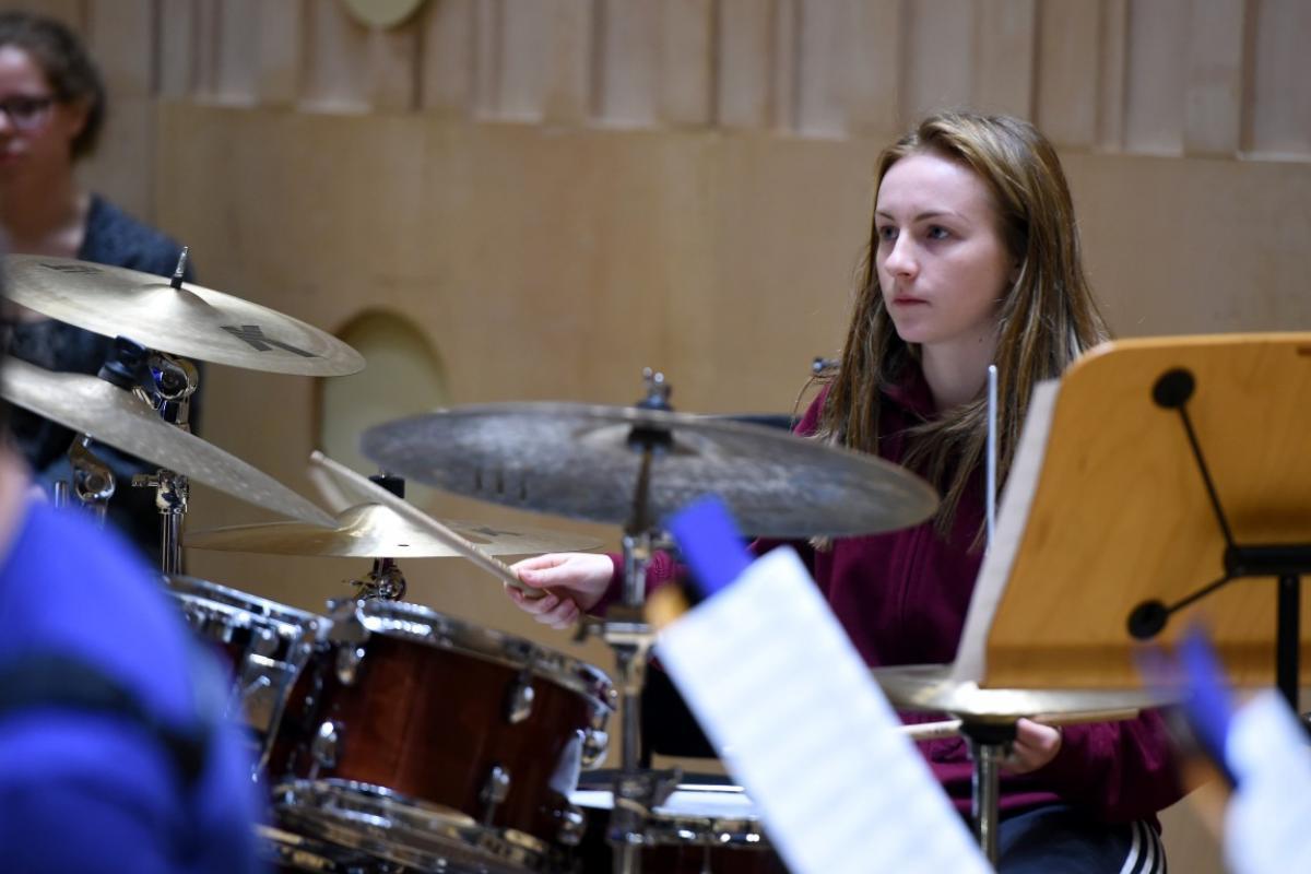 NYOS Jazz Access rehearsing at The RSNO Auditorium GRCH