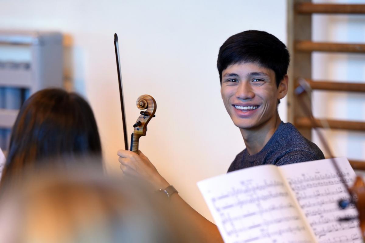 Violinist with NYOS Senior Orchestra