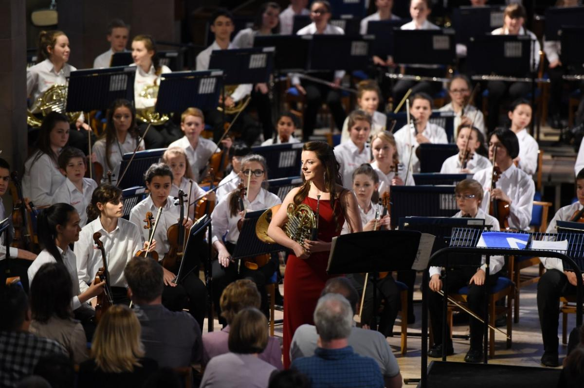 Diana Sheach with NYOS Junior Orchestra 2015