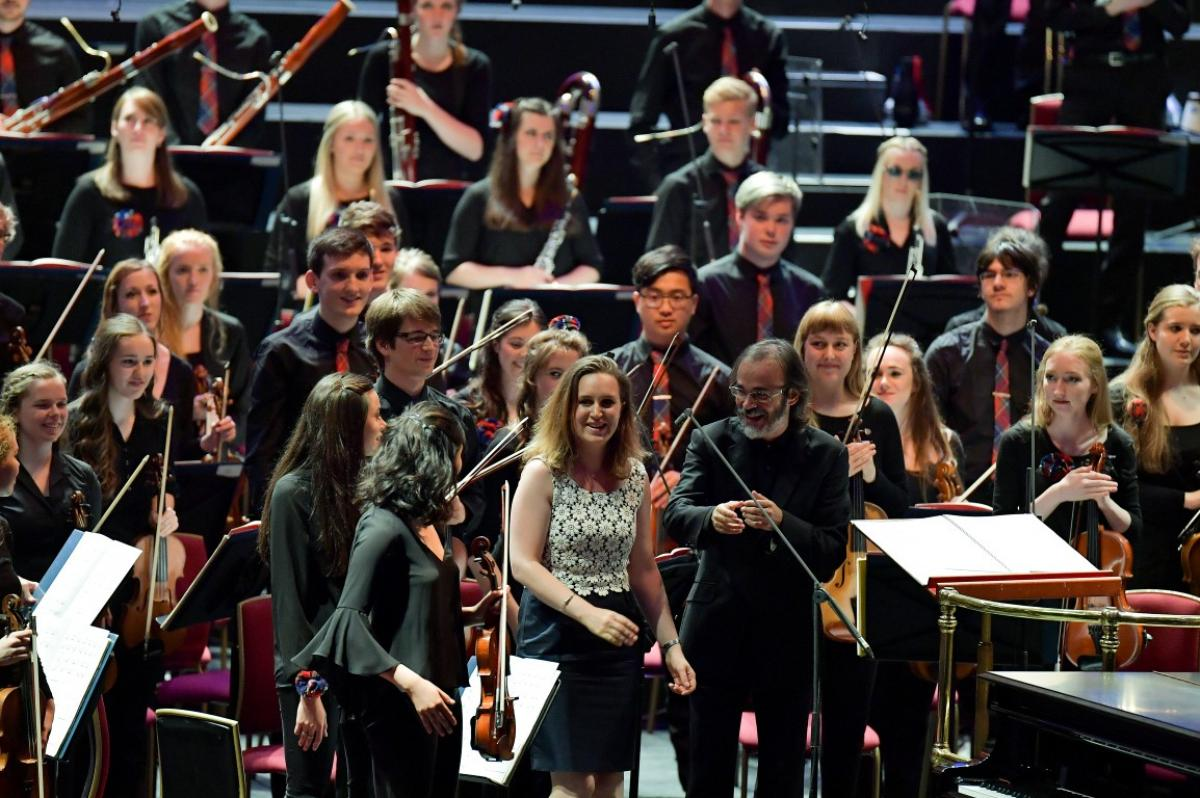 Composer Helen Grime with NYOS Symphony Orchestra
