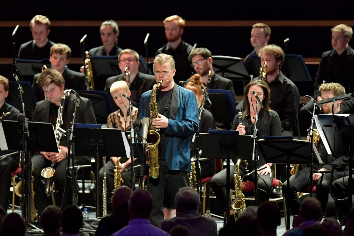 Iain Ballamy with NYOS Jazz Orchestra at the Royal Albert Hall