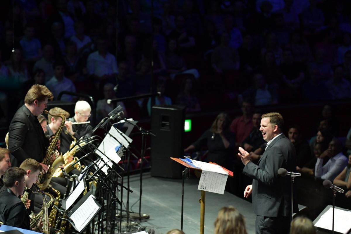 Malcolm Edmonstone with NYOS Jazz Orchestra at the Royal Albert Hall