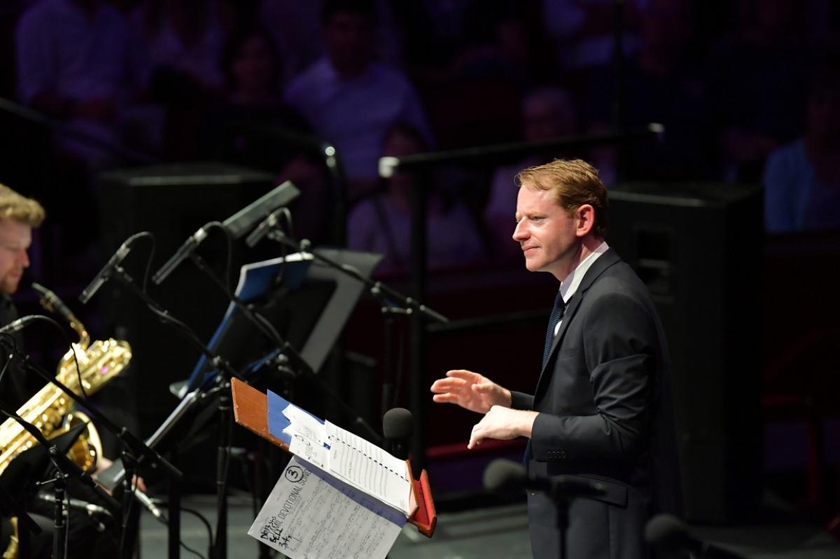Andrew Bain with NYOS Jazz Orchestra at the Royal Albert Hall