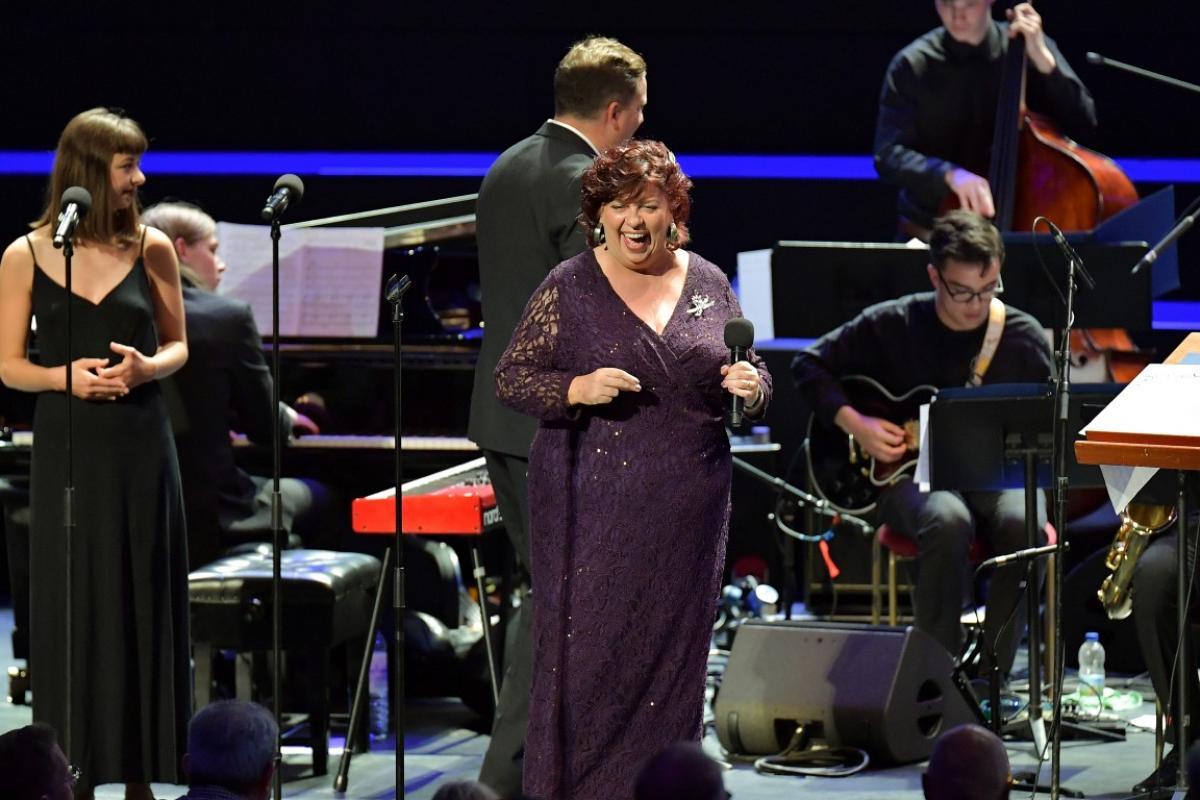 Liane Carroll with Jazz Choir and NYOS Jazz Orchestra at the Royal Albert Hall