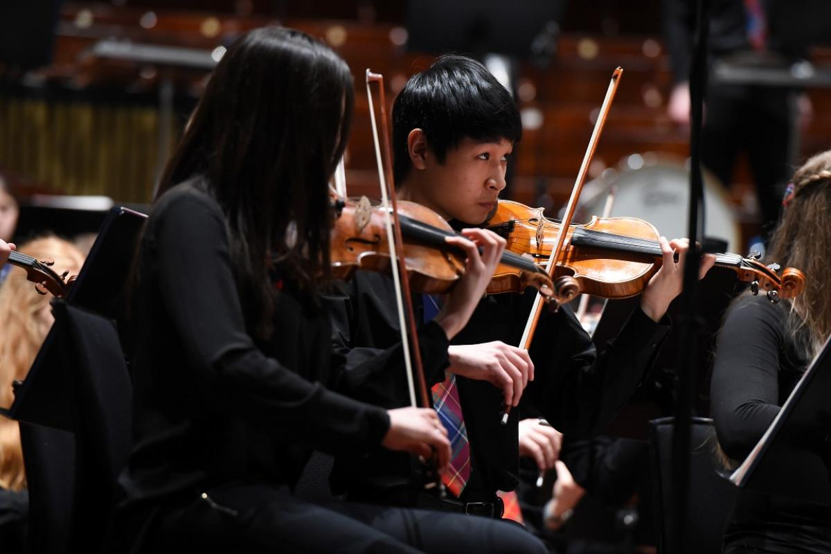 Maximum concentration from our string players at the Usher Hall, April 2017