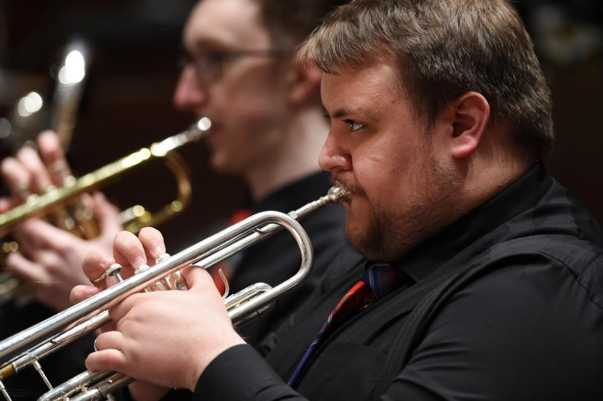 Trumpets working hard at the Usher Hall, April 2017