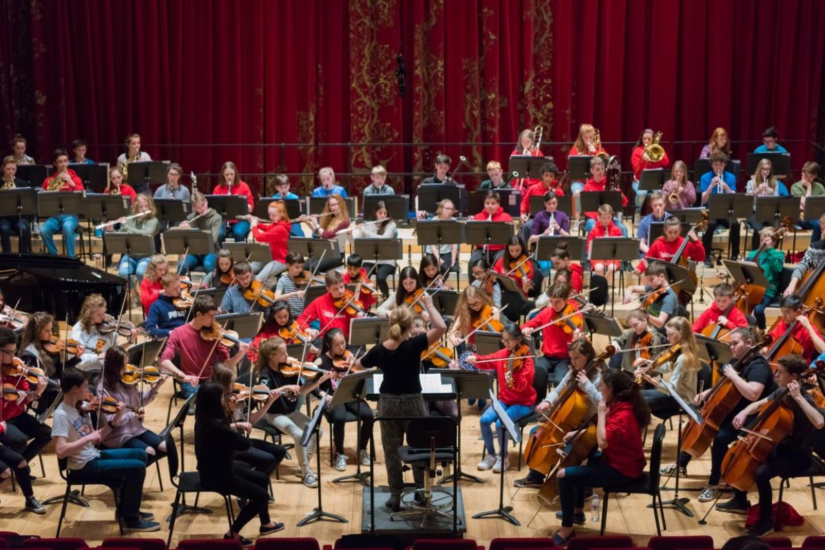 Final full rehearsal before the big performance at Stevenson Hall, the Royal Conservatoire of Scotland, April 2017