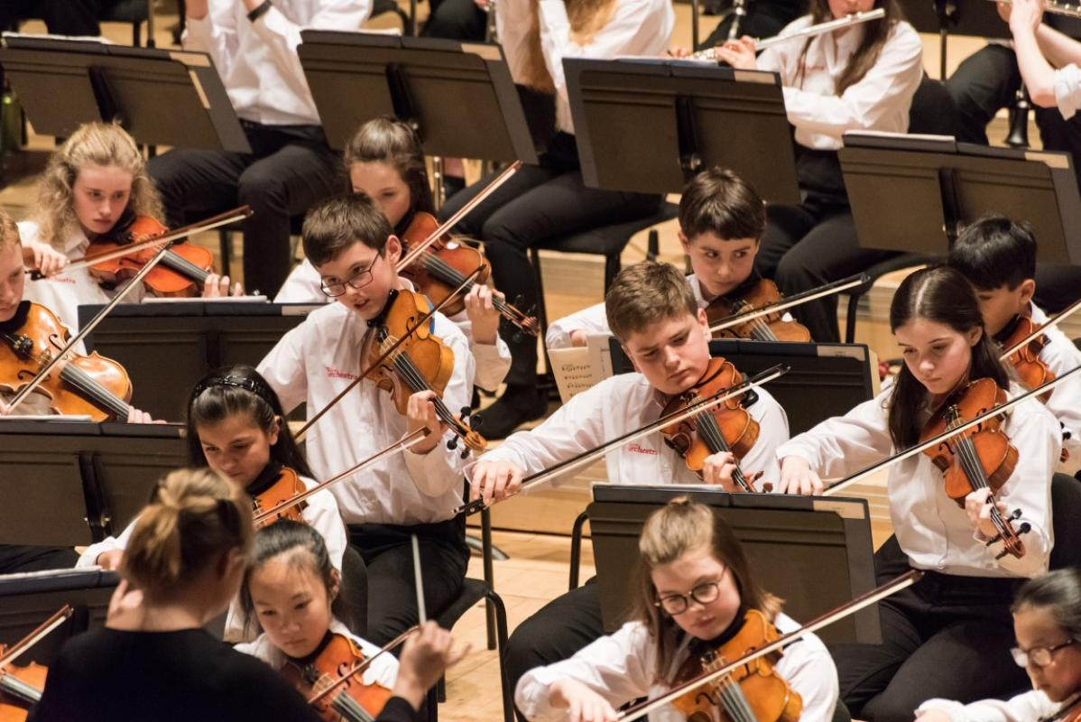 The Junior violins sounded superb at Stevenson Hall, Royal Conservatoire of Scotland, April 2017