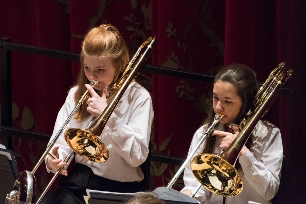 Tremendous Junior trombones at Stevenson Hall, Royal Conservatoire of Scotland, April 2017