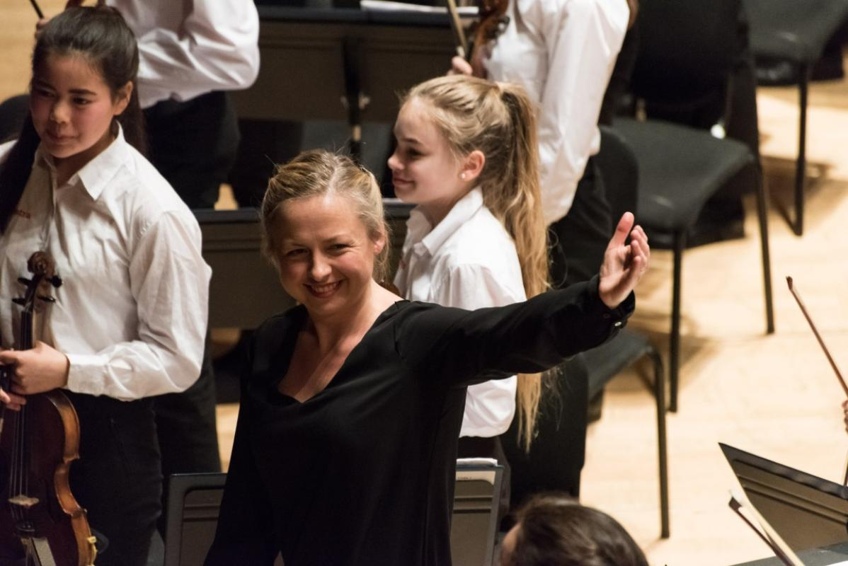 Conductor Holly Mathieson delighted with the level of performance at Stevenson Hall, Royal Conservatoire of Scotland, April 2017