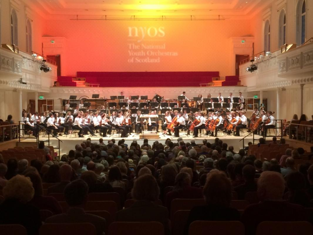 Great audience to watch NYOS Senior Orchestra perform at Glasgow's City Halls, April 2017