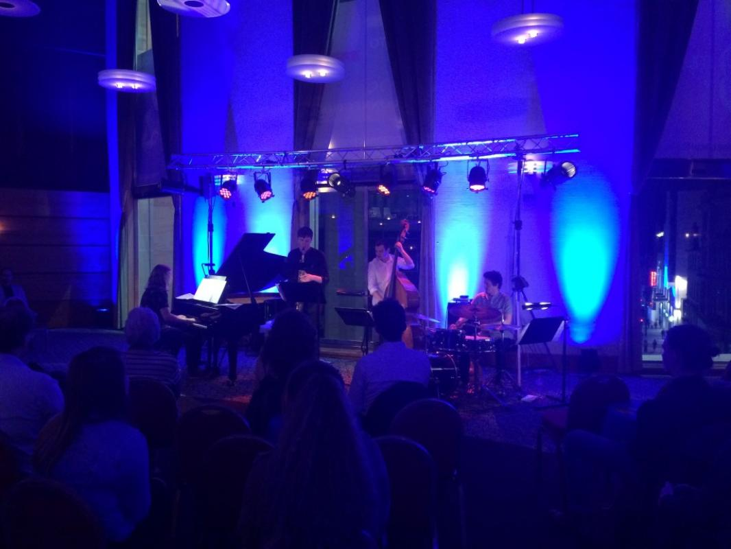 Great set up at the Late Night Studio with NYOS Jazz Collective, 30 April 2017